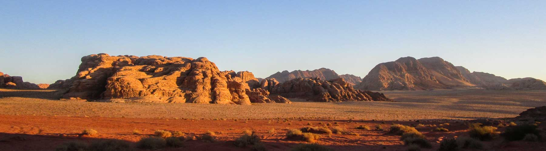 Wadi Rum's colouring at sunset time