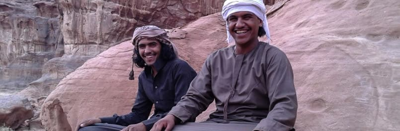 Fawaz Mohammad the owner of Wadi Rum Nomads and his brother Abdullah Mohammad