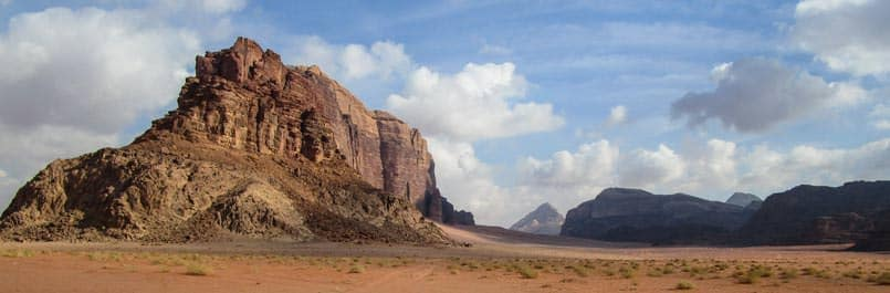 Wadi Rum desert in autumn