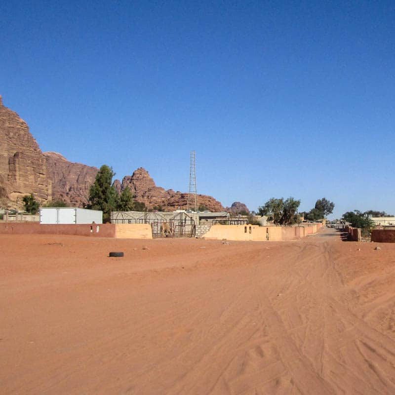 View on Rum village from the desert