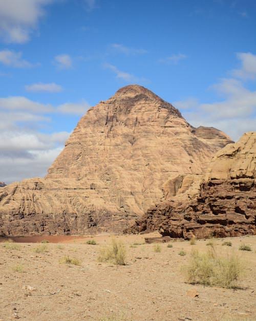 Scenic Wadi Rum desert