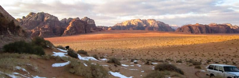 On winter vacation in Wadi Rum desert