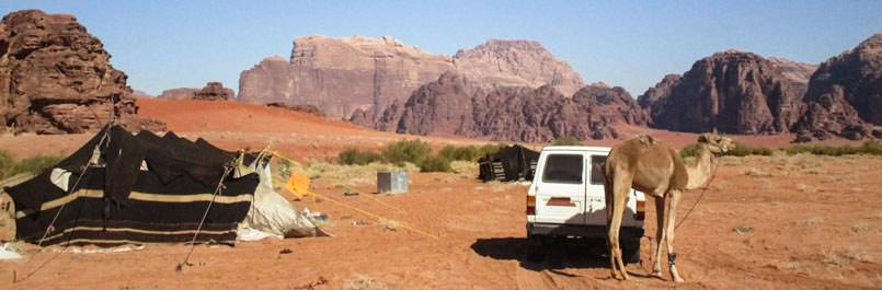 Our Bedouin tent in Wadi Rum desert