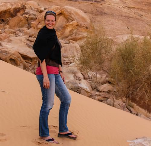 Bianca Abma, works with Wadi Rum Nomads