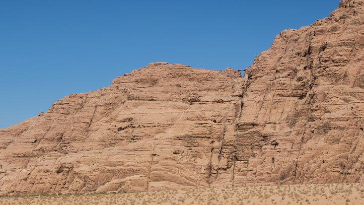 View on Burdah rock bridge from the valley floor