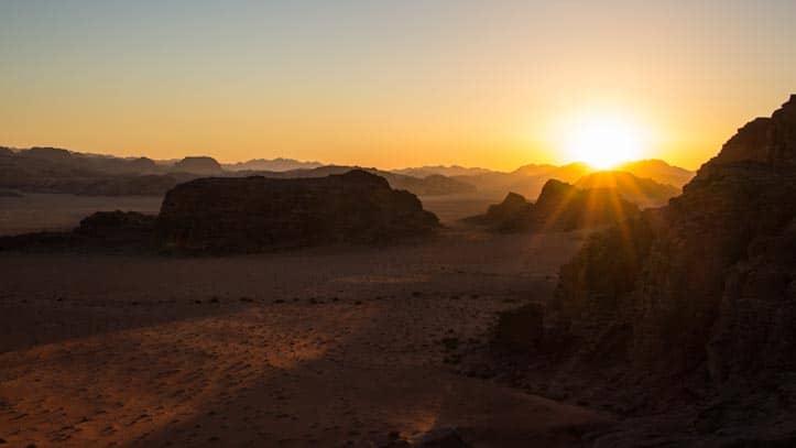 Sunset in Um Sabatah