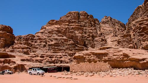 The ruin of the Lawrence house in Wadi Rum desert