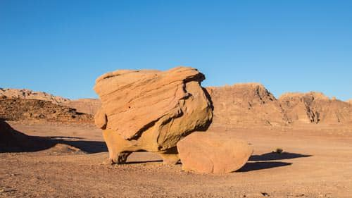 Cow rock in Wadi Rum desert