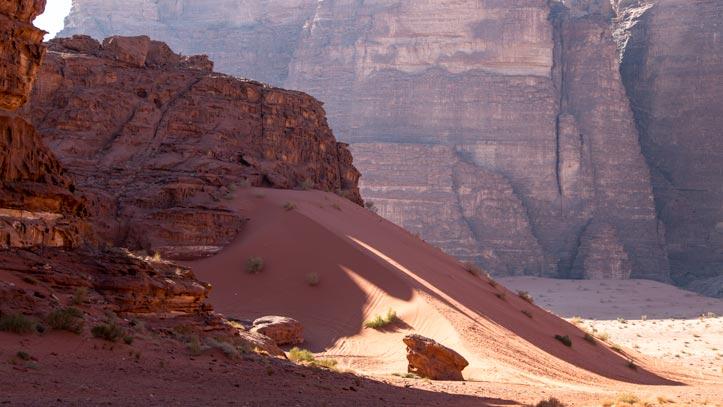 Red sand dune near Wadi Um Ishrin
