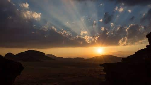 Um Sabatah a excellent place to enjoy beautiful sunsets in Wadi Rum desert