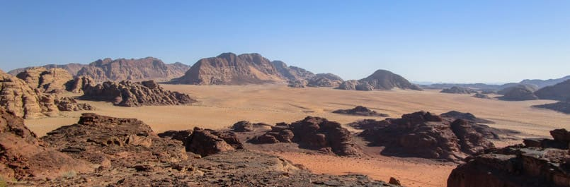 Beautiful Wadi Rum desert
