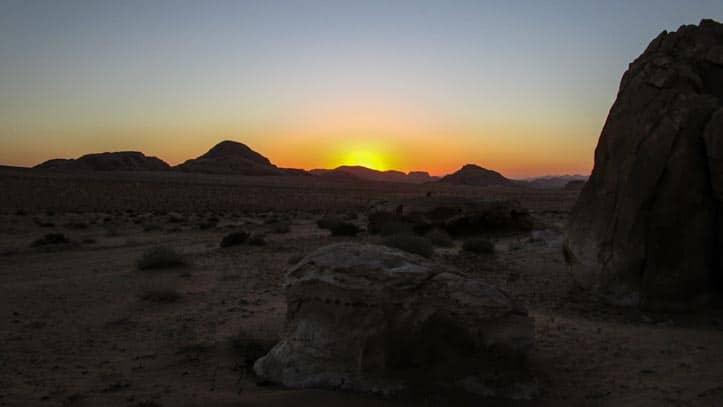 Sunset in Um Mugur