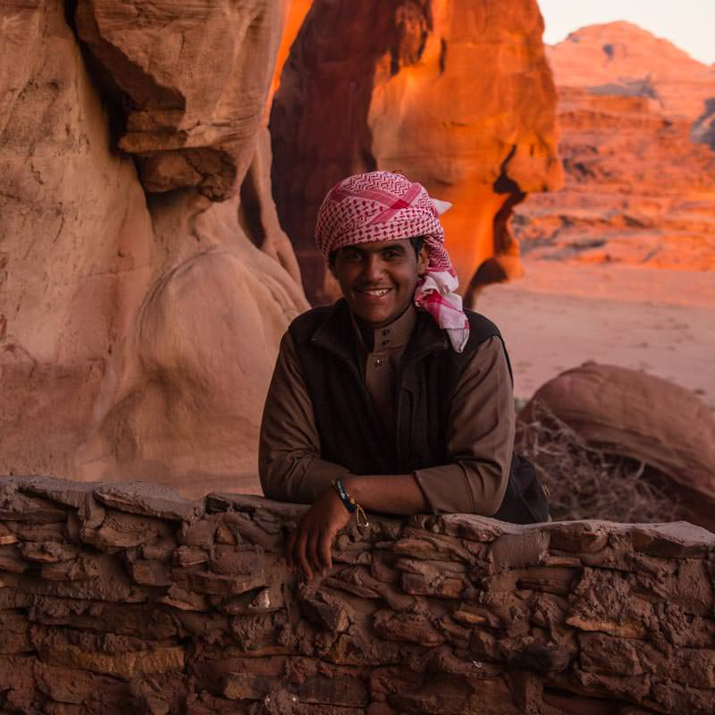 Habis in our cave in Wadi Rum desert