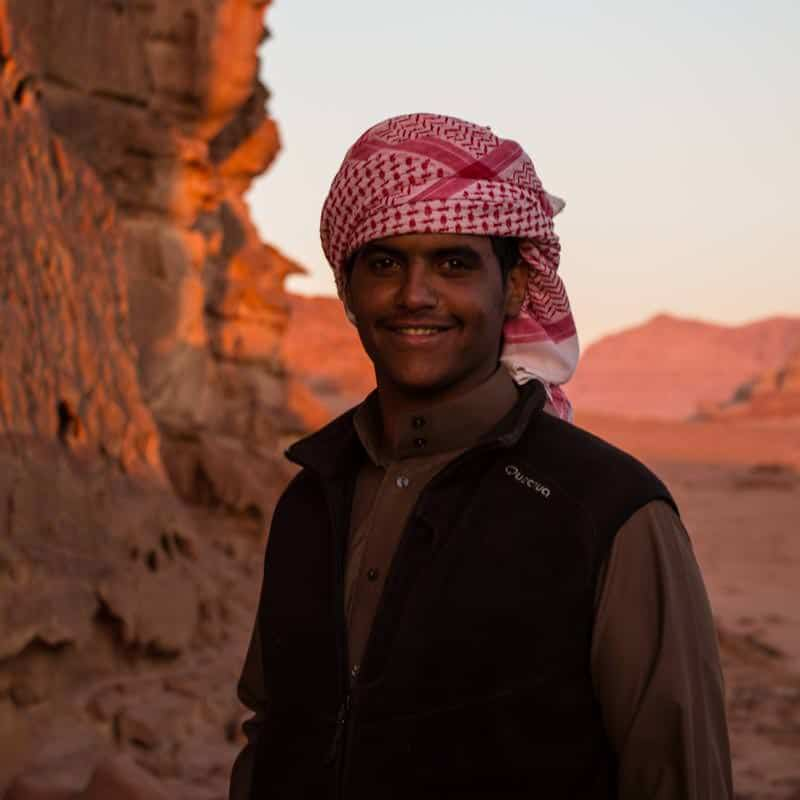 Habis on tour in Wadi Rum desert
