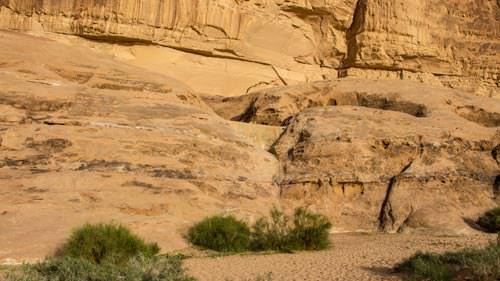 Bedouin dam in Wadi Rum desert