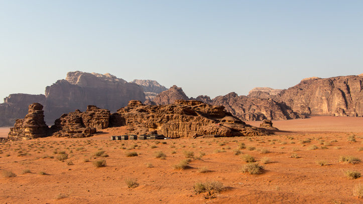 view on Wadi Rum Base Camp