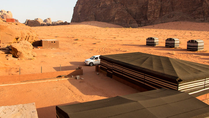 overview of Wadi Rum Base Camp