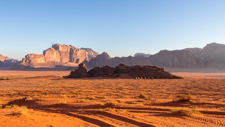 location of Wadi Rum Base Camp