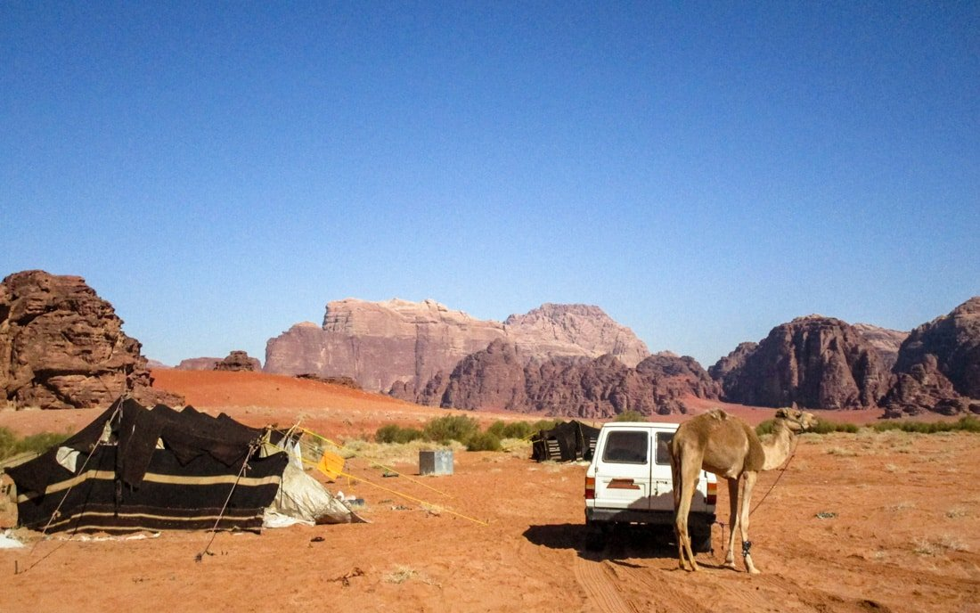 bedouin house of hair in wadi rum desert