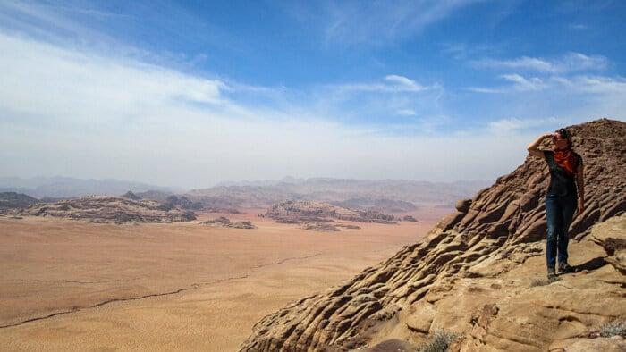 bianca enjoying the views from jabal al-hash