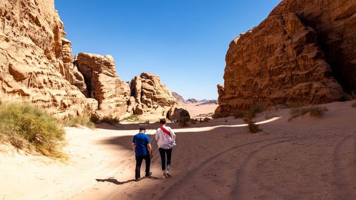 guests hiking wadi nuqra