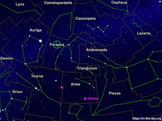 constellation perseus for the perseid meteor shower