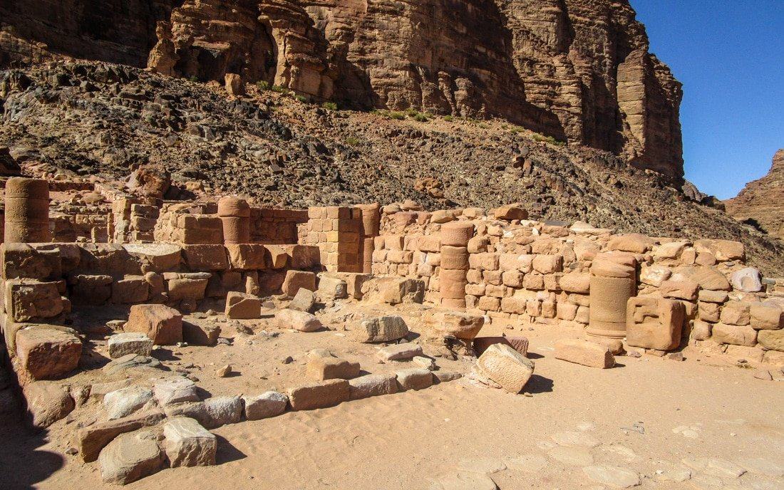 the nabatean temple in rum village