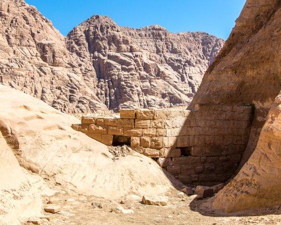 roman dam in wadi rum desert