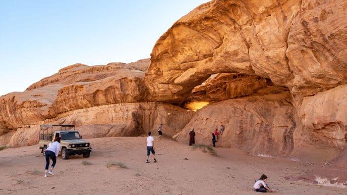exploring double bridge while on tour with wadi rum nomads