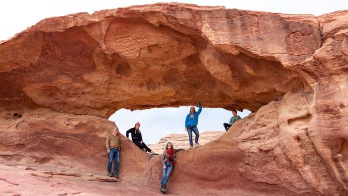 guests at um ashaman rock bridge
