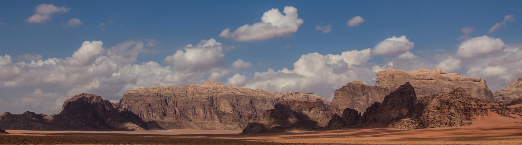 Wadi Rum weather cloudy sky