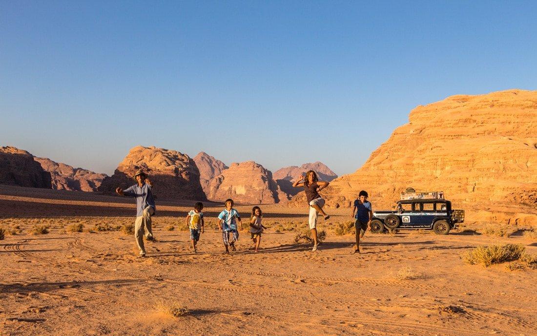 the zapp family enjoying in wadi rum